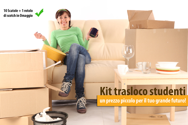 kit studenti camera trasloco
